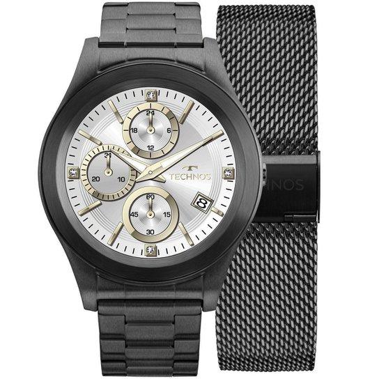 5a47dbcc778 Relógio Masculino Technos SMARTWATCH SRAF 4P Pulseira Preta - Preto ...