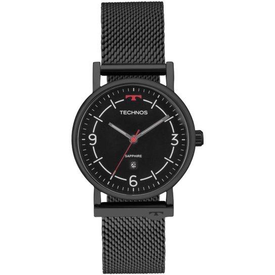bd7bde87e3a20 Relógio Technos Unissex Slim - 9U13AA 4P 9U13AA 4P - Preto - Compre ...