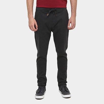 Calça Redley Skinny Sarja Color Black