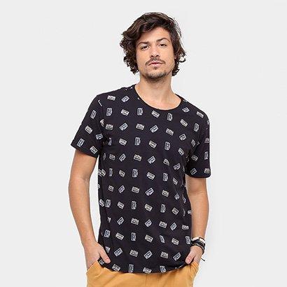 Camiseta Redley Mini Print Masculina