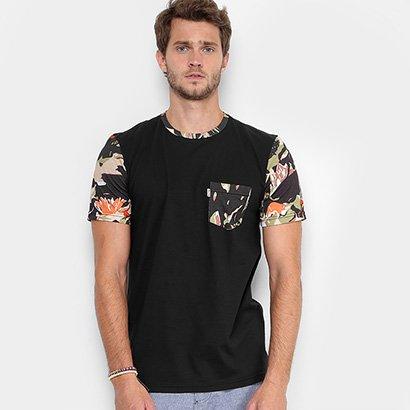 Camiseta Redley Gola Careca Bolso Estampada Masculina