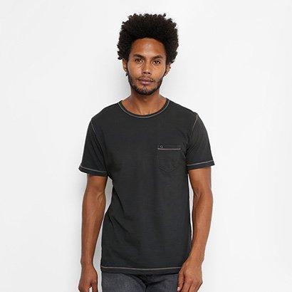 Camiseta Redley Estonada Linha Contraste Masculina