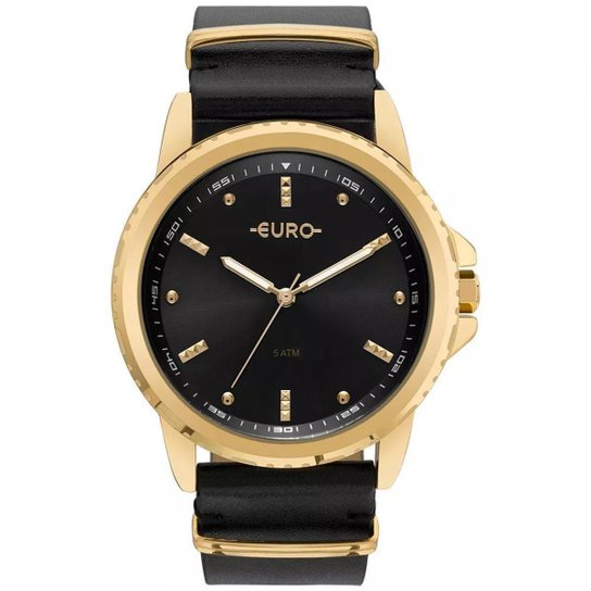 c9cdfbe0f7e Relógio Feminino Euro EU2035YNN 4P Pulseira de Couro - Preto ...