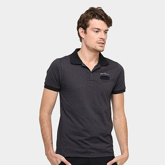 Camisa Polo Local Malha Jaquard Bolso Masculina 4d4a383265569