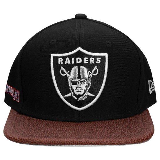 Boné New Era NFL 950 Super Bowl Champion XI Oakland Raiders - Preto+Marrom 94072d683a9