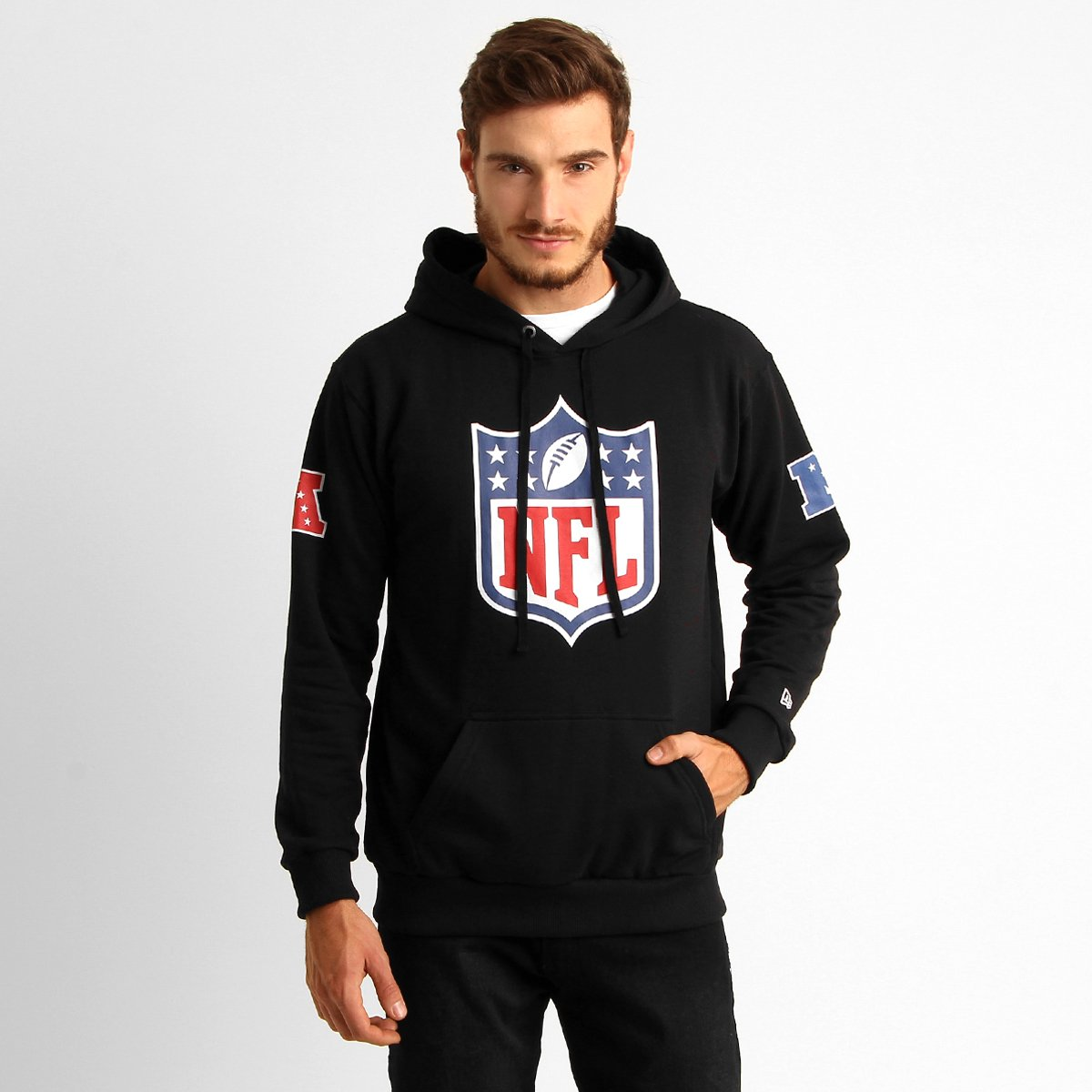 Moletom NFL New Era Shield Canguru Masculino