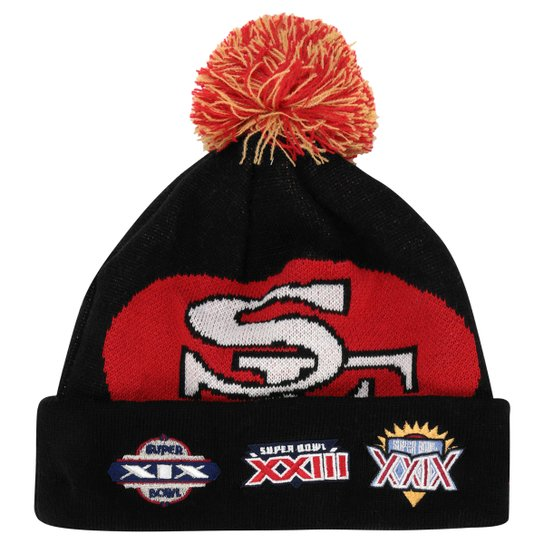 084f292c Gorro New Era NFL Super Bowl Big Team San Francisco 49ers - Preto ...