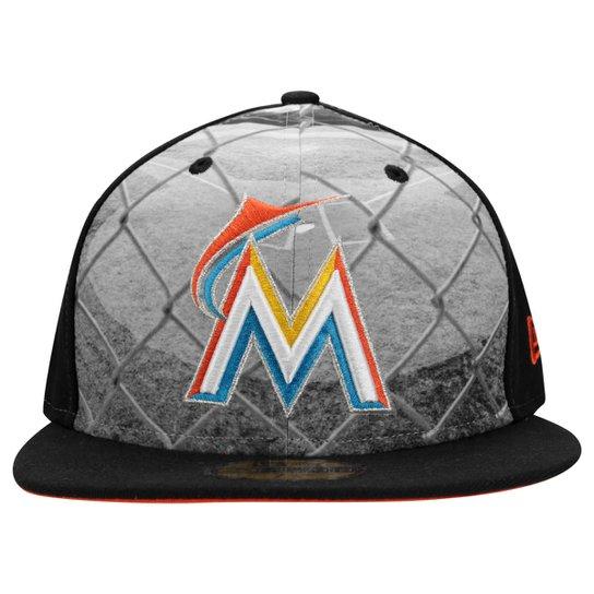 Boné New Era 5950 MLB Round Dwary Miami Marlins - Compre Agora ... 4815f8b8f0e
