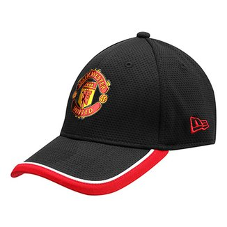Boné Manchester United New Era Aba Curva 3930 Caddy Black Masculino 0045621c0c4