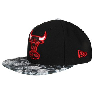 23a3d4e86 Boné New Era 950 Of Sn NBA Print Play Tropical Chicago Bulls