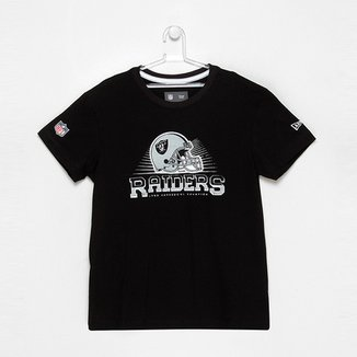 6f2d3dd87d Camiseta New Era NFL Helmet Oakland Raiders Juvenil