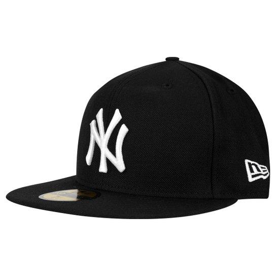 43c9431f26a1d Boné New Era 5950 MLB New York Yankees - Preto - Compre Agora