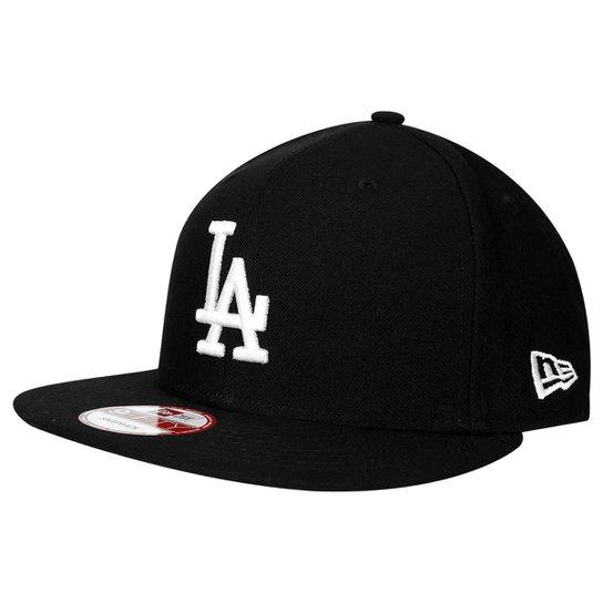 5acb5f90455c8 Boné New Era 950 MLB Los Angeles Dodgers - Preto - Compre Agora ...