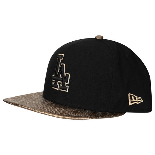 Boné New Era MLB 950 Of Sn Tile Vize Snap Los Angeles Dodgers Blk - Preto d20b54095a4