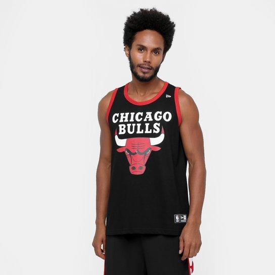 c305d92263973 Camiseta Regata New Era NBA Basic Logo Chicago Bulls - Preto ...