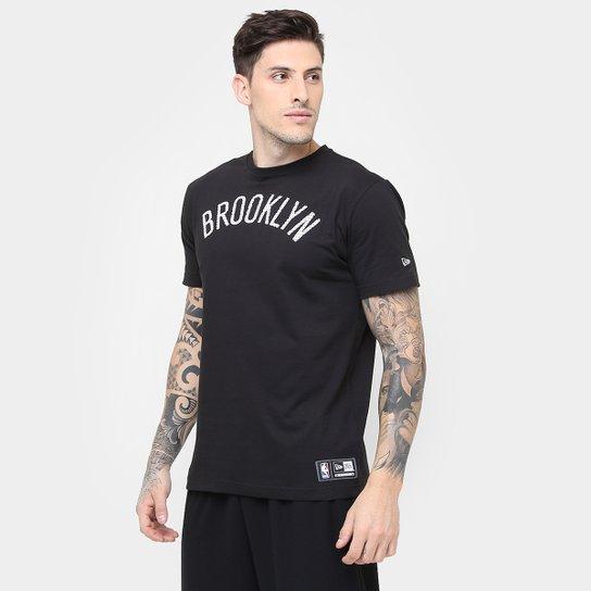 4c48809e25 Camiseta New Era NBA Game Piece Brooklyn Nets | Netshoes