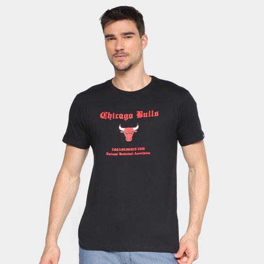 Camisa Polo New Era NBA Team Color Chicago Bulls - Preto - Compre ... 10ab59a4ec3