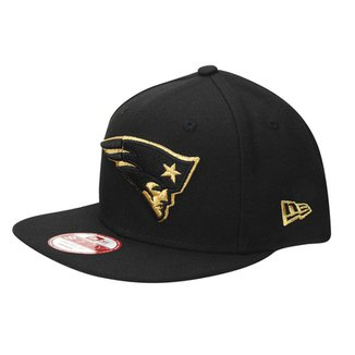 911a5d7a42f60 Boné New Era NFL 950 Of Sn Gold On Black New England Patriots