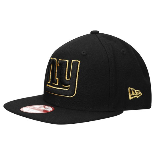 7dfb614e03903 Boné New Era NFL 950 Of Sn Gold On Black New York Giants - Compre ...
