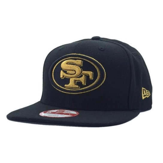 5c58c06ea5275 Boné New Era San Francisco 49ers 950 Gold on Black - Compre Agora ...