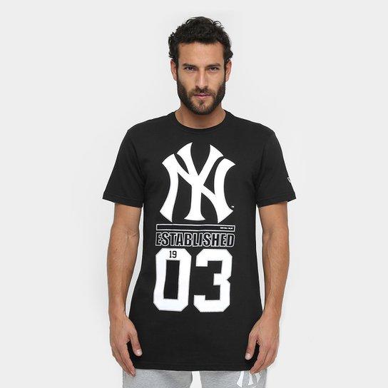 Camiseta MLB New York Yankees New Era Foil 61 Masculina - Compre ... b2b23febab8