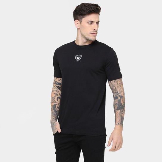 Camiseta New Era NFL Mini Logo Oakland Raiders - Preto - Compre ... dc0ea27914f