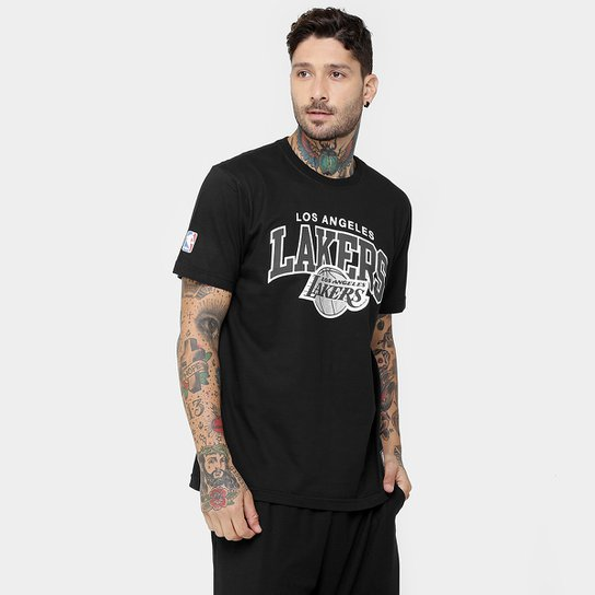 Camiseta New Era NBA Pop Silver Los Angeles Lakers - Compre Agora ... 5ee42d8404000