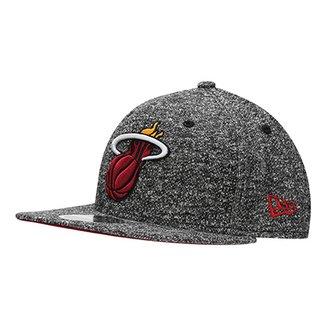 c10ae7ec763f5 Boné New Era NBA 950 Of Sn Miami Heat Black French Terry