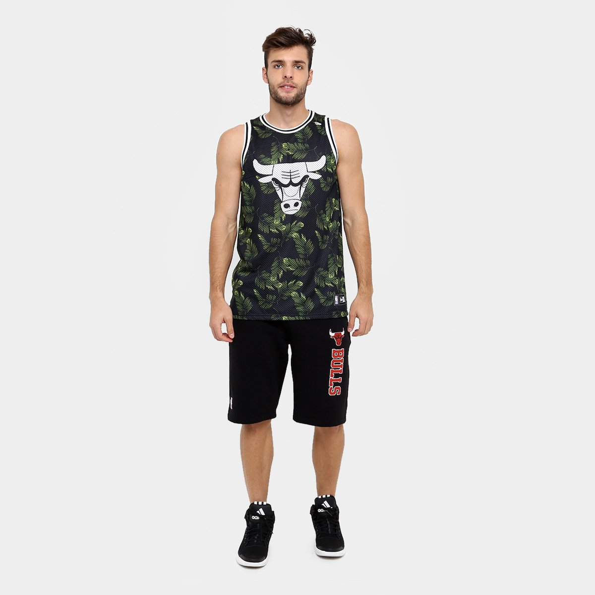 Camiseta Regata New Era NBA Jersey Palm Camo Chicago Bulls  bed4ddf1b1f