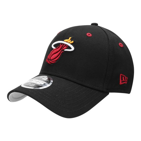 e78f0ea3f Boné New Era NBA Miami Heat Aba Curva 3930 HC Official Preto - Preto