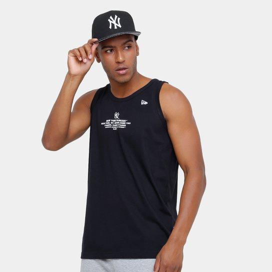 4fe3ee4ae Camiseta Regata MLB New York Yankees New Era Lic 2023 Masculina - Preto
