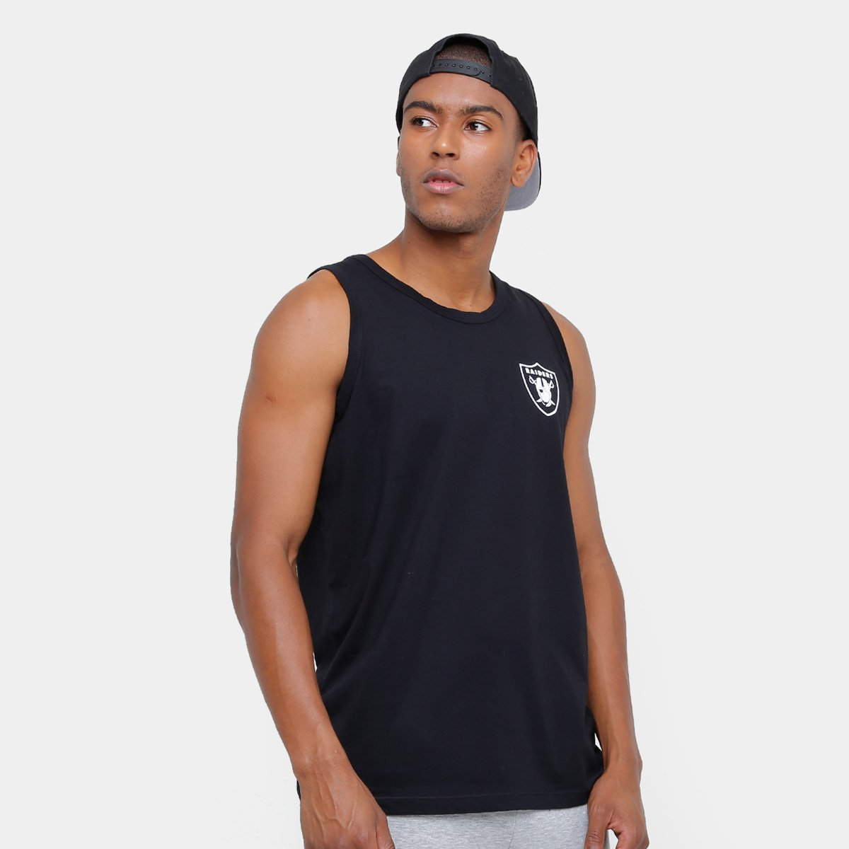 Camiseta Regata NFL Oakland Raiders New Era Big Masculina