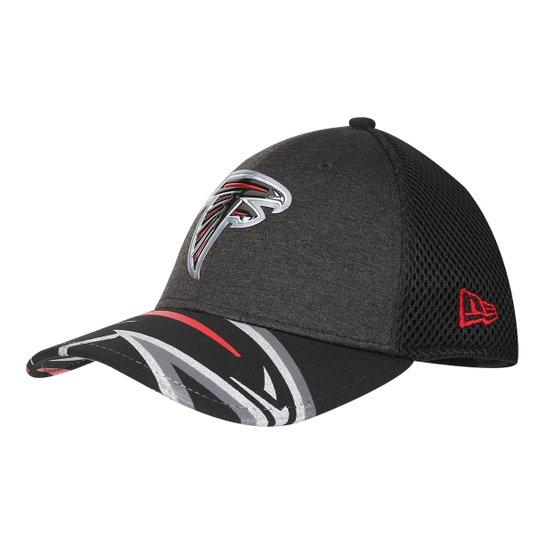 Boné New Era NFL Atlanta Falcons Aba Curva 3930 On Stage Masculino - Grafite 46657a34c6b