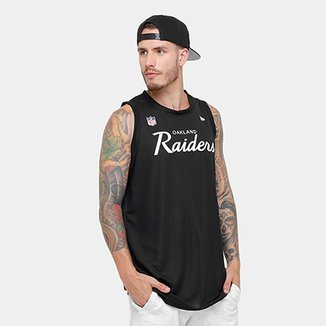 Camiseta Regata New Era NFL Oakland Raiders Sports Vein Masculina 5a0b22e6ac342