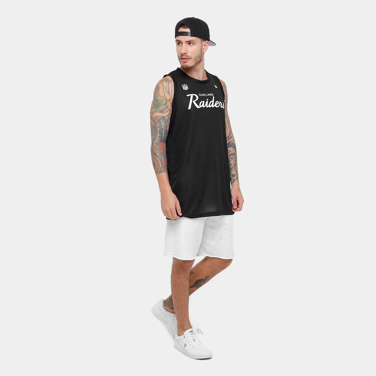 Camiseta Regata New Era NFL Oakland Raiders Sports Vein Masculina ... ad8565cd61768
