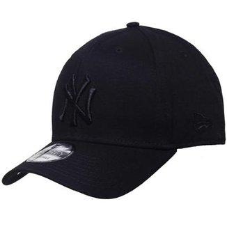 06447f4fd15ef Boné New Era Aba Curva Snapback Mlb Ny Yankees Bla