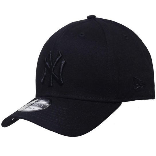 11cd0775e Boné New Era Aba Curva Snapback Mlb Ny Yankees Bla - Preto - Compre ...