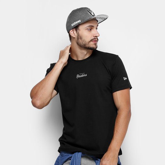 b4783a1cc8a71 Camiseta NFL Oakland Raiders New Era Fresh Mark Masculina - Compre ...