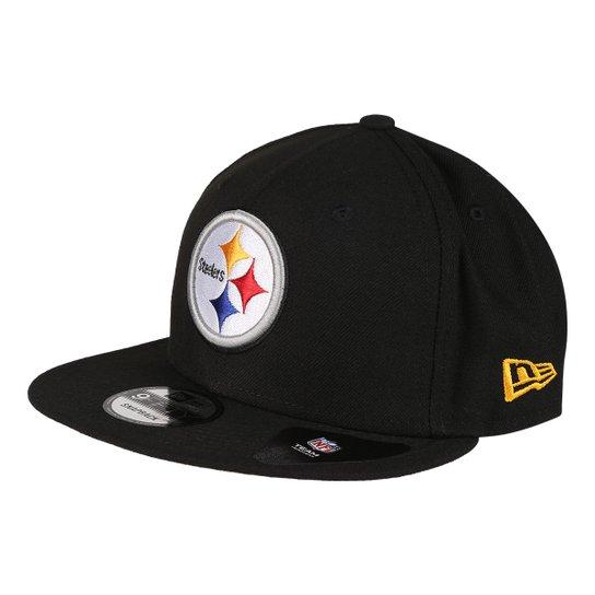 Boné New Era NFL Pittsburgh Steelers Aba Reta 950 Of Sn Street - Preto 1fa9f871348
