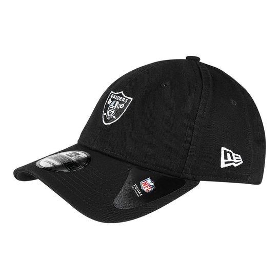 Boné New Era NFL Oakland Raiders Aba Curva 920 St Mino Logo Classic - Preto b1043747e90