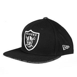 Boné New Era NFL Oakland Raiders Aba Reta 950 Of Sn Marble Flect 7fef2379812