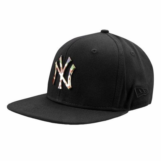 Boné New Era MLB New York Yankees Aba Reta 950 Of Sn Lic981 Su - Preto 03138c6214d