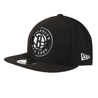 c3089d664 Boné New Era NBA Brooklyn Nets Aba Reta Primary