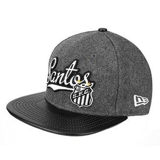 Boné New Era Santos Aba Reta Flanel 950 OF SN be9b4f5d93a