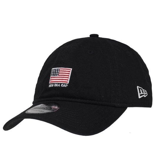 b9f5f6c0e3479 Boné New Era Aba Curva Strapback Mini Flag America - Preto | Netshoes