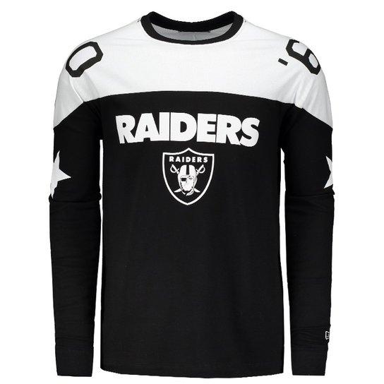 2ab4c5109750c Camiseta New Era NFL Oakland Raiders Manga Longa - Compre Agora ...