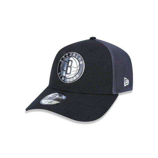 1fd7e466a9d96 Bone 3930 New Era Brooklyn Nets NBA Aba Curva - Preto - Compre Agora ...