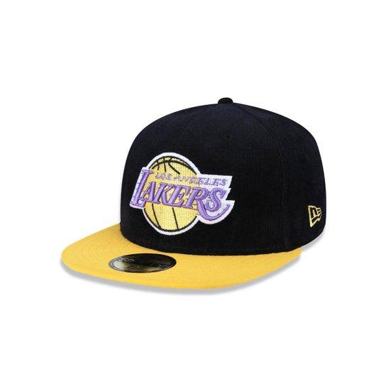 Bone 5950 Los Angeles Lakers NBA Aba Reta New Era - Compre Agora ... 140eca849c5