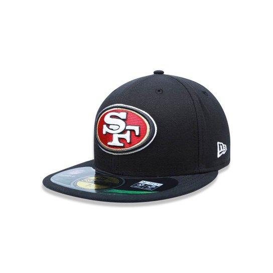 bd47f0bb1a Bone 5950 New Era San Francisco 49ers NFL Aba Reta   Netshoes