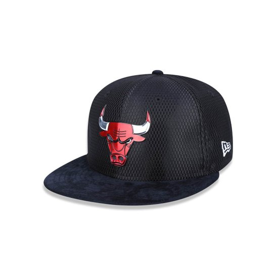 Bone 950 New Era Chicago Bulls NBA Aba Reta Snapback - Preto ... c388179433f